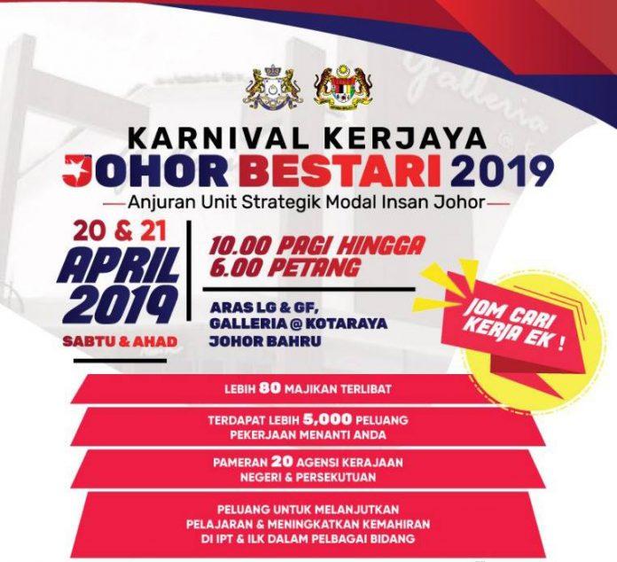 Karnival Kerjaya Johor Bestari (Kredit foto Unit Strategik Modal Insan Johor)